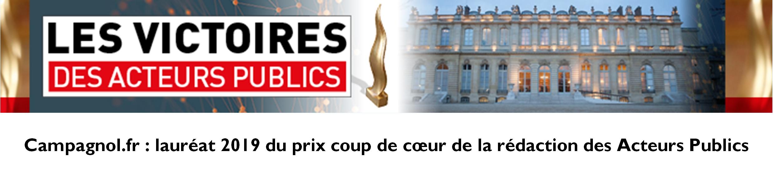 Campagnol.fr lauréat 2019 du prix coup de cœur de la rédaction des acteurs publics